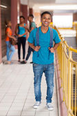 Smiling african college boy — Stockfoto