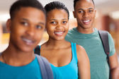 Group of afro american university students — Stock Photo