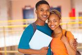 Afrikanische college paar — Stockfoto