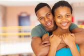 Afro american college couple close up — Stock Photo