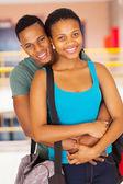 African american university couple — Stock Photo