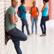 Black university student on campus — Stock Photo