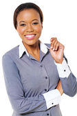 Young african american businesswoman posing — Stock Photo