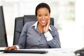Young african american businesswoman in office — Stock Photo
