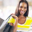 Black lady shopping — Stock Photo