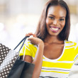 Black lady shopping — Stockfoto