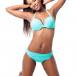 African woman in bikini — Stock Photo