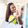 Happy african shopper — Stock Photo