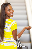 African woman going shopping — Stock Photo