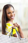 African woman shopping spree — Stock Photo