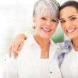 Mature mother and young daughter portrait — Stock Photo