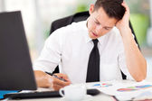 Overworked businessman — Stock Photo