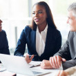 Group of businesspeople having a meeting — Stock Photo #34109213