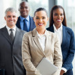 Group of businesspeople standing together — Stock Photo