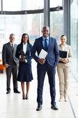 équipe et chef d'entreprise africaine — Photo