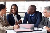 Business partners having meeting — Stock Photo