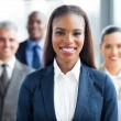 African american businesswoman and co-workers — Stock Photo