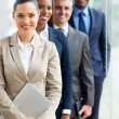 Stock Photo: Group of business executives standing in row