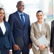 Foto Stock: Multiracial business team in office
