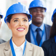 Group of construction managers — Stock Photo