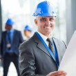 Senior construction engineer — Stock Photo