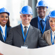 Team of construction managers — Stock Photo #34113763