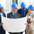 Team of architects interacting — Stock Photo #34114927