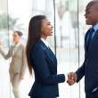 African business people handshaking — Stock Photo