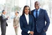 Young african american businesspeople — Stock Photo
