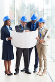 Group of architects working on a project — Stock Photo