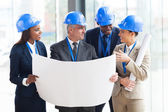 Team of architects interacting — Stock Photo