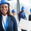 African female construction worker — Stock Photo