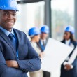 African male construction manager — Stock Photo