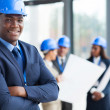 Stock Photo: Africmale construction manager