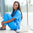 Stock Photo: Young african american doctor