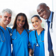 Stock Photo: Group of multiracial medical team in hospital
