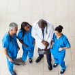 Overhead view of doctors — Stock Photo