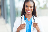 African female doctor — Foto Stock