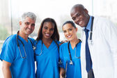 Group of multiracial medical team in hospital — Stock Photo