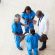 Overhead view of medical workers having a meeting — Stock Photo #34180479