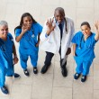 Above view of medical doctors waving — Stock Photo