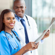 Young african medical doctors — Stock Photo