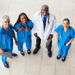 Overhead view of group healthcare workers — Stock Photo