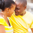 Young african couple in love — Stock Photo