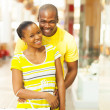African american couple portrait — Stock Photo
