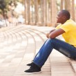 African man relaxing in urban city — Stock Photo