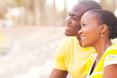Cute african couple dating — Stock Photo