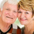 Headshot of senior couple — Stock Photo