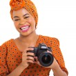 Young african photographer — Stock Photo