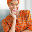 Africamericwomwearing traditional attire — Stock Photo #36379355
